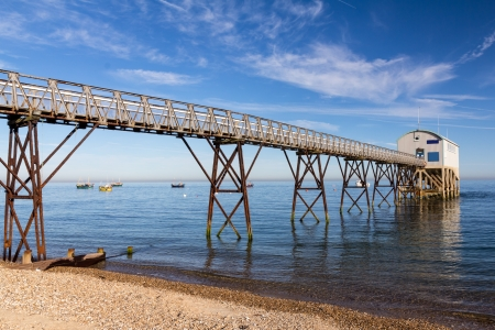 lifeboat station: Selsey Bill lifeboat station, West Sussex England UK Stock Photo