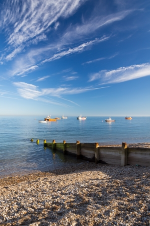 selsey: The shingle beach at Selsey Bill West Susses England UK Stock Photo