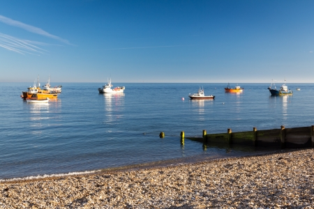 The shingle beach at Selsey Bill West Susses England UK Stock Photo