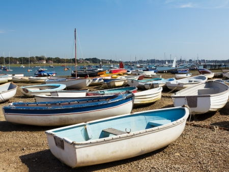 west sussex: Boats at Itchenor West Sussex England UK Stock Photo