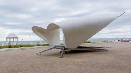 bandstand: Bandstand at the De la Warr Pavilion at Bexhill-on-Sea, East Sussex England UK Editorial