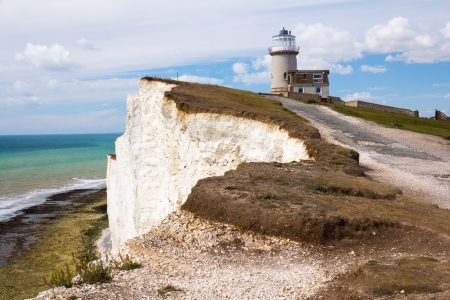sussex: Belle Tout Lighthouse at Beachy Head near Eastbourne East Sussex, England UK Stock Photo