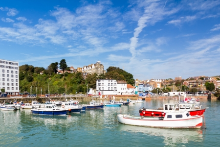 Summers day at Folkstone Harbour Kent England UK Stock Photo
