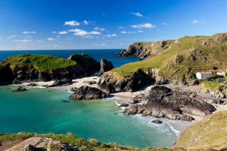 Kynance Cove on the Lizard Peninsula Cornwall England UK Stock Photo - 16159744
