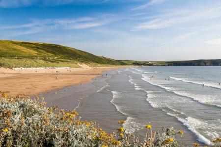 devon: Beach at Woolacombe Devon England UK
