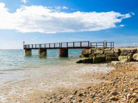 Jetty on Bowleaze Cove Beach Dorset England UK Stock Photo - 16549184
