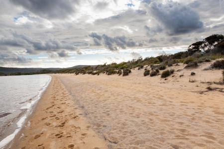 Sandy Beach and the Nornalup Inlet near Walpole Western Australia photo