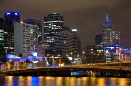 River Yarra and the CBD at night, Melbourne Victoria, Australia Stock Photo - 16532935