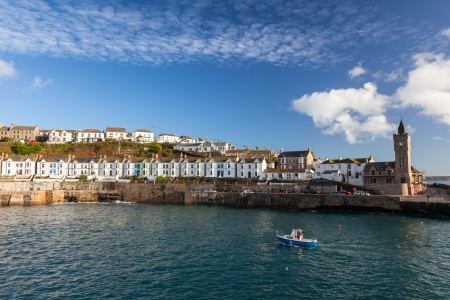 The harbour entrance at Porthleven Cornwall England UK photo