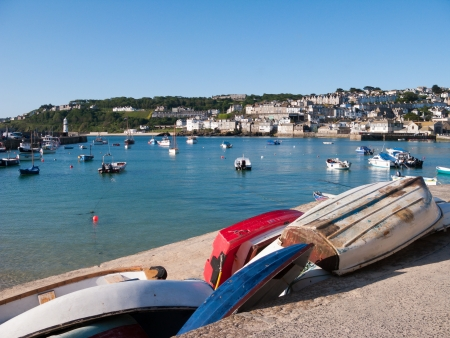 Sunny day at St Ives harbour Cornwall England UK Stock Photo - 16838146