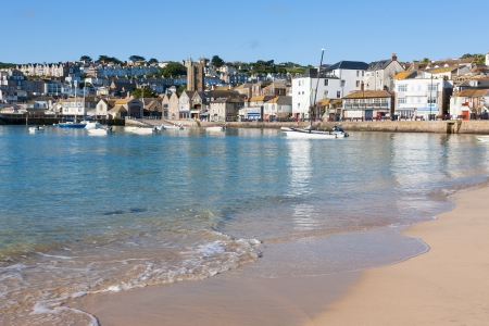 St Ives Harbour Beach Cornwall England UK Stock Photo - 16851363