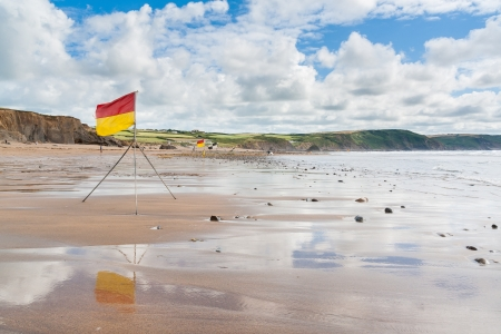 Widemouth Bay near bude on the North Cornwall Coast, England UK photo