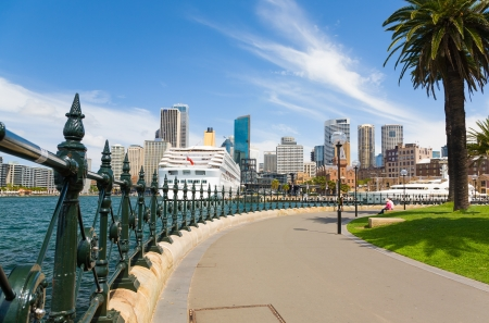 Sydney Central Business District from Dawes Point Park, Australia Stock Photo