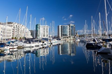 plymouth: Marina Plymouth Devon England UK