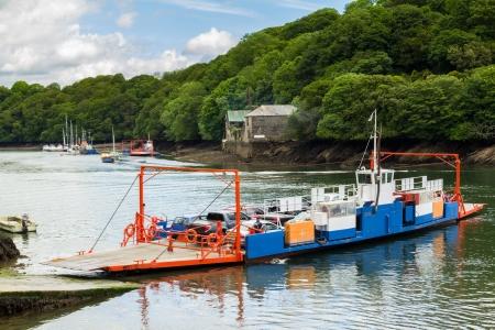 crossings: Bodinnick Fowey ferry Cornwall England UK