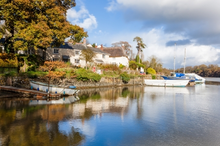 clement: The tiny riverside hamlett of St Clement near Truro Cornwall England UK Editorial