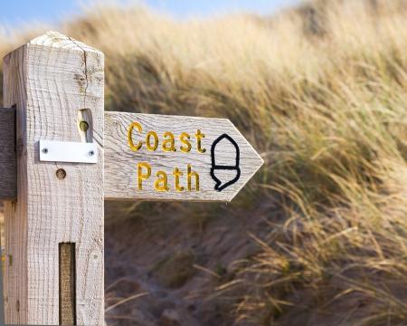 クロイド北デボン海岸イギリス英国の美しいビーチ 写真素材