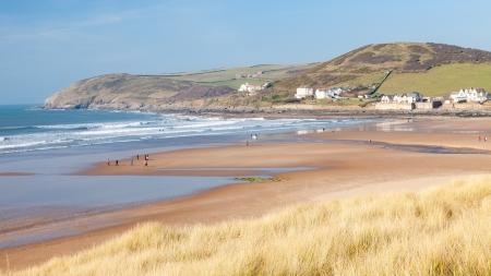 The beautiful beach at Croyde on the North Devon Coast England UK