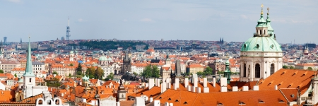 View from Prague Castle with the dome of St. Nicholas Church (Chram sv.Mikulase), Prague Czech Republic photo