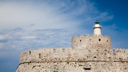 'saint nicholas': The Fort of Saint Nicholas that guards the Mandraki Harbour, Rhodes Greece