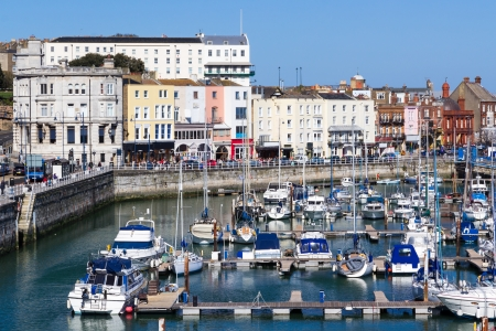 Royal Harbour and Marina at Ramsgate, Kent England UK Stock Photo