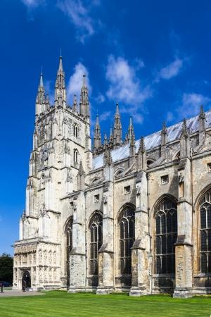 canterbury: Le grand style gothique cath�drale de Canterbury, Kent, Angleterre Royaume-Uni Banque d'images