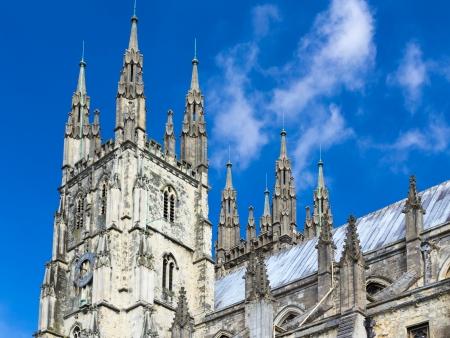 canterbury: Le grand style gothique cath?ale de Canterbury, Kent, Angleterre Royaume-Uni