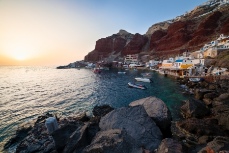 cycladic: Sunset at Ammoudi Bay Oia Santorini Greece