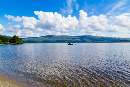 Summer on the banks of Loch Lomond, The Trossachs National Park Scotland UK Stock Photo - 20704825