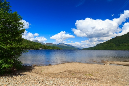 Firkin Point at Loch Lomond in The Trossachs National Park Scotalnd UK Stock Photo - 20704887
