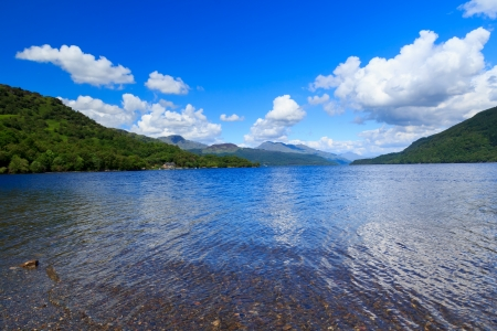 Firkin Point at Loch Lomond in The Trossachs National Park Scotalnd UK