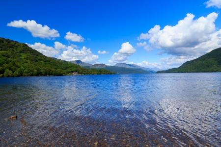 trossachs national park: Firkin Point at Loch Lomond in The Trossachs National Park Scotalnd UK