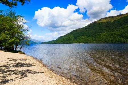 loch lomond: Firkin Point at Loch Lomond in The Trossachs National Park Scotalnd UK