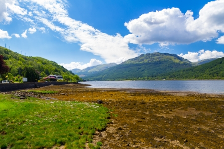 lochs: Stunning scenery at Loch Long Argyll and Bute Scotland