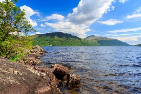 lochs: Summers day at Inveruglas on Loch Lomond Scotland UK Stock Photo