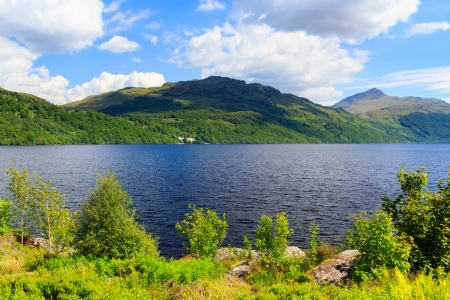 scotish: Summers day at Inveruglas on Loch Lomond Scotland UK Stock Photo