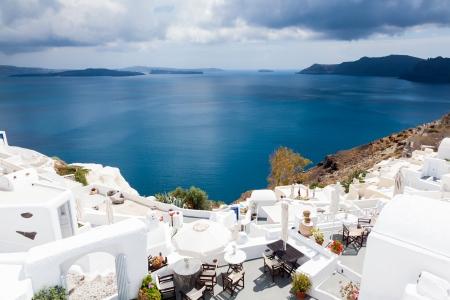 The caldera at Oia Santorini Greece Europe Фото со стока - 21348680