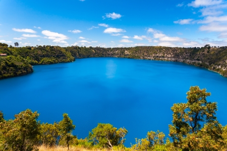 australian scenic: The incredible Blue Lake at Mt Gambier, South Australia