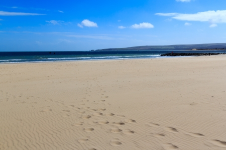 Sunny day on Sandbanks Beach Dorset England UK
