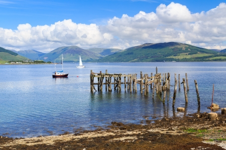 scotish: Port Bannatyne on the Isle of Bute Scotland UK