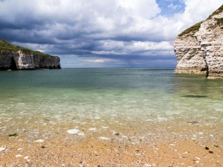 east riding: Flamborough North Landing Beach Yorkshire England UK Europe