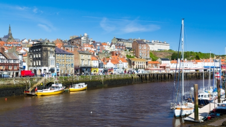 whitby: Whitby Harbour Yorkshire England UK Stock Photo