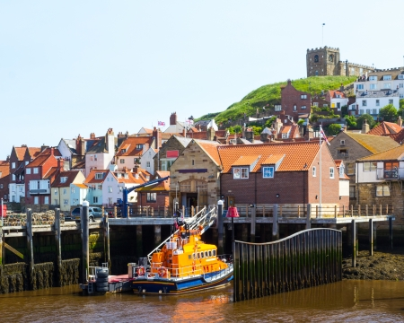 lifeboat station: Whitby Harbour Yorkshire England UK Stock Photo