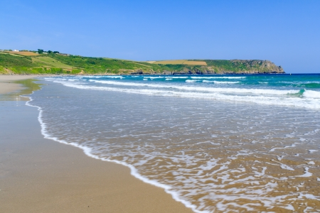 south west england: Pendower Beach on the Roseland Peninsual Cornwall England UK Stock Photo