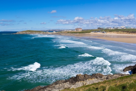 Overlooking Fistral Beach Newquay Cornwall England UK photo