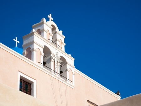 Church at Finikia on the Island of Santorini Greece photo