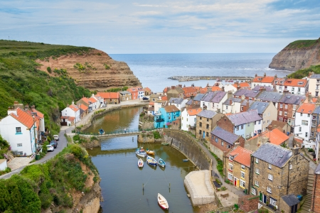 Overlooking Staithes Yorkshire England UK Europe