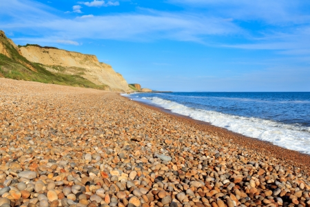 shingle beach: Shingle beach at Eype Dorset England UK Europe Stock Photo