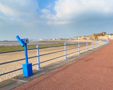 lancashire: Sea front and beach at Morecambe Lancashire England UK Europe Stock Photo