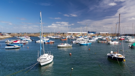 Summers day at Penzance Harbour Cornwall England UK Europe